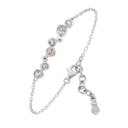 Clogau Celebration Sterling Silver White Topaz Bracelet, 3SMB2.
