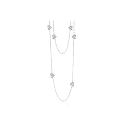 Clogau Eternal Love Sterling Silver Maxi Necklace. 3SELP01.