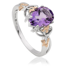 Clogau Great Vine 18ct White Gold Amethyst Ring