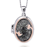 Clogau Heart of Wales Preseli Bluestone Locket 3STLPBL