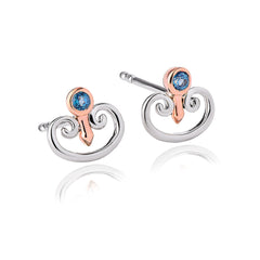 Clogau Kensington Palace London Blue Topaz Earrings