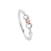Clogau Lovespoon Sterling Silver Affinity Stacking Ring 3SLSPR
