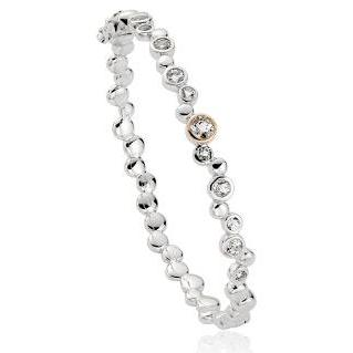 Clogau Celebration Sterling Silver White Topaz Bangle, 3SMBG.