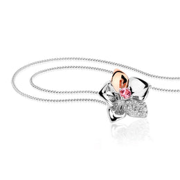Clogau Orchid Sterling Silver Necklace 3SOFP