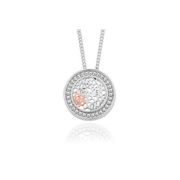 Clogau Royal Roses Sterling Silver Necklace 3SRORCP