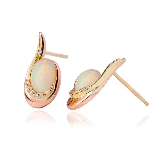 Clogau Serenade Gold and Opal Stud Earrings EMPE