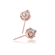 Clogau Tree Of Life 9ct Rose Gold Pearl Stud Earrings, TOLCPE2.
