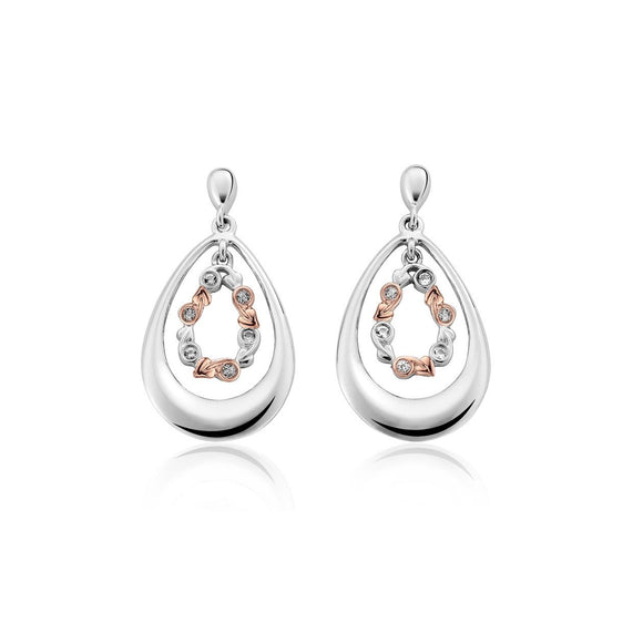 Clogau Tree Of Life Sterling Silver Drop Earrings 3STOLEE