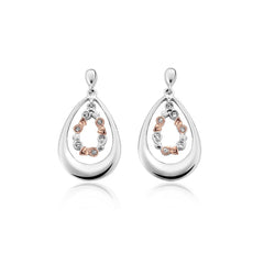Clogau Tree Of Life Sterling Silver Drop Earrings