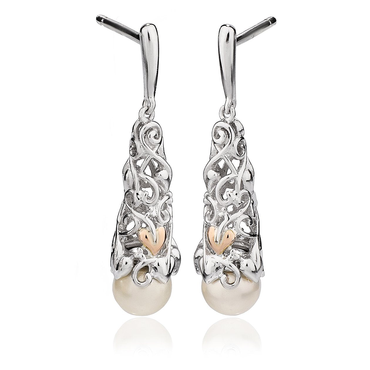 49438ba71b368 Clogau Tree Of Life Sterling Silver Rose Gold Pearl Earrings