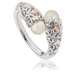 Clogau Tree Of Life Sterling Silver Rose Gold Pearl Ring 3STOLPR4