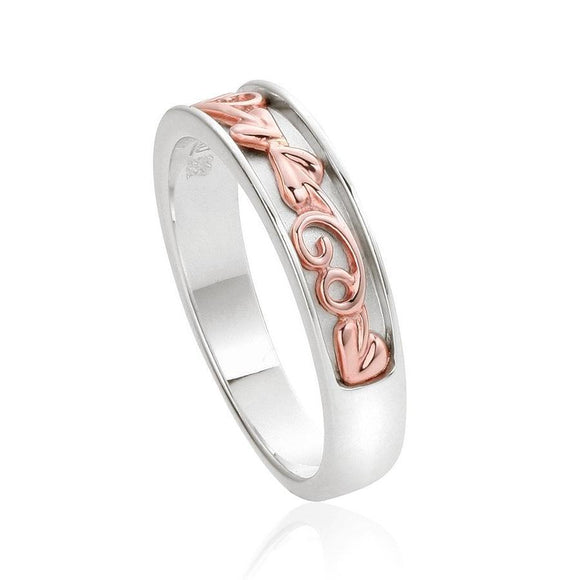 Clogau Tree of Life Sterling Silver Narrow Ring 3SETR