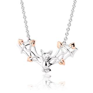 Clogau Tree of Life Touchwood Sterling Silver Bat Necklace