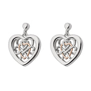Clogau Welsh Royalty Sterling Silver Rose Gold Stud Earrings 3SWLRE