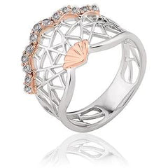 Clogau White Peacock Sterling Silver Topaz Ring