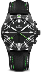 Damasko Watch DC 82 Black Green Leather Pin