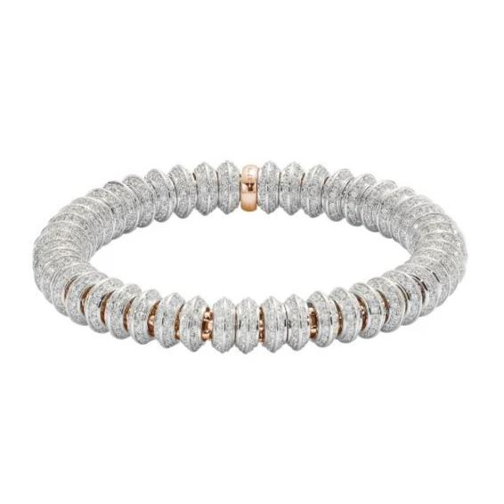 Fope Flex'it Solo 18ct Rose Gold 7.29ct Diamond Bracelet, 654B/PAVE.