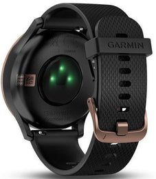 Garmin Watch Vivomove HR Rose Gold with Black Silicone Band