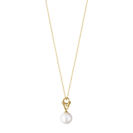 Georg Jensen Magic 18ct Yellow Gold Diamond Pearl Necklace 10009352