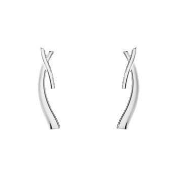 Georg Jensen Marcia Sterling Silver Earrings Long 3539345