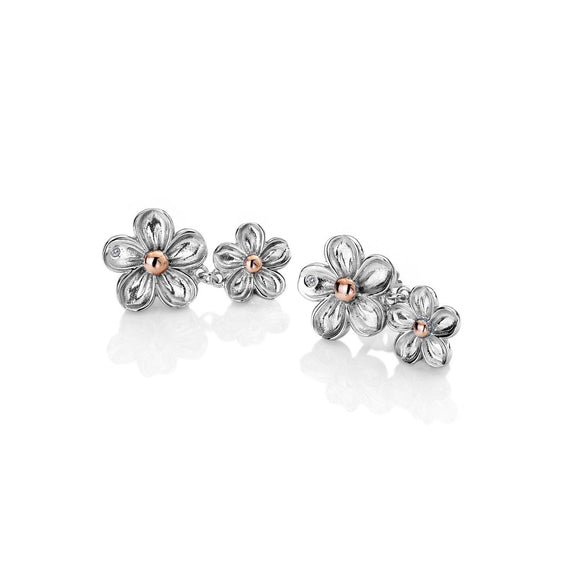 Hot Diamonds Forget Me Not Flower Drop Earrings DE617