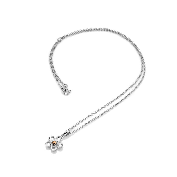 Hot Diamonds Forget Me Not Sterling Silver Necklace DP749