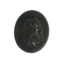 W Hamond Antique Whitby Jet Carved Gentleman Cameo Brooch, MUNQ0000557.