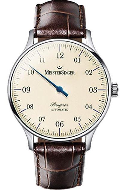 MeisterSinger Watch Pangaea PM903 Croco Print Brown