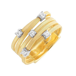 Marco Bicego Goa 18ct Yellow Gold 0.15ct Diamond Ring. AG270 B.