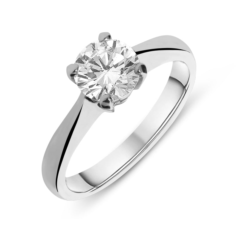 Platinum 0.72ct Diamond Brilliant Cut Solitaire Ring