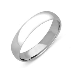 Palladium 5mm Court Shaped Wedding Ring