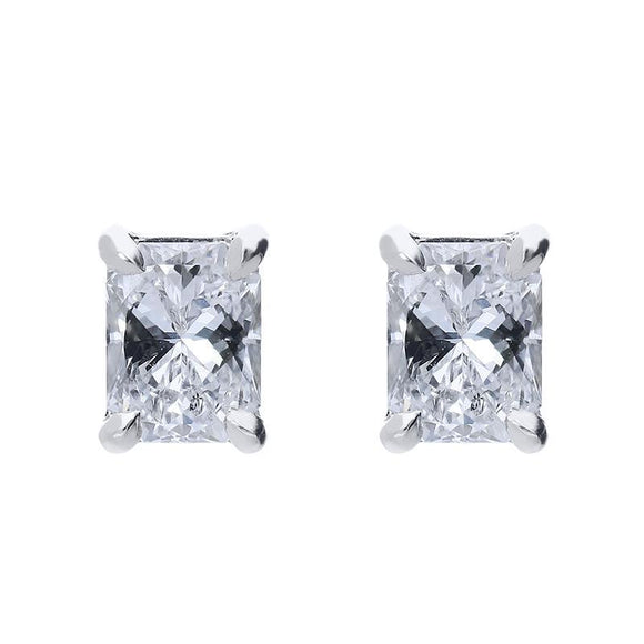Phoenix Cut 18ct White Gold 0.61ct Diamond Stud Earrings, ATD-119.