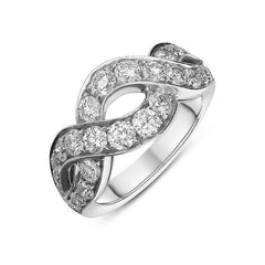 Picchiotti 18ct White Gold 1.64ct Diamond Twist Ring