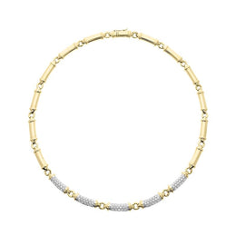Picchiotti 18ct Yellow Gold 0.87ct Diamond Bar Necklace PCH-045