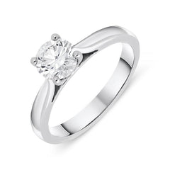Platinum 0.73ct Diamond Brilliant Cut Solitaire Ring