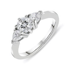 Platinum 0.94ct Diamond Brilliant Cut Trilogy Ring