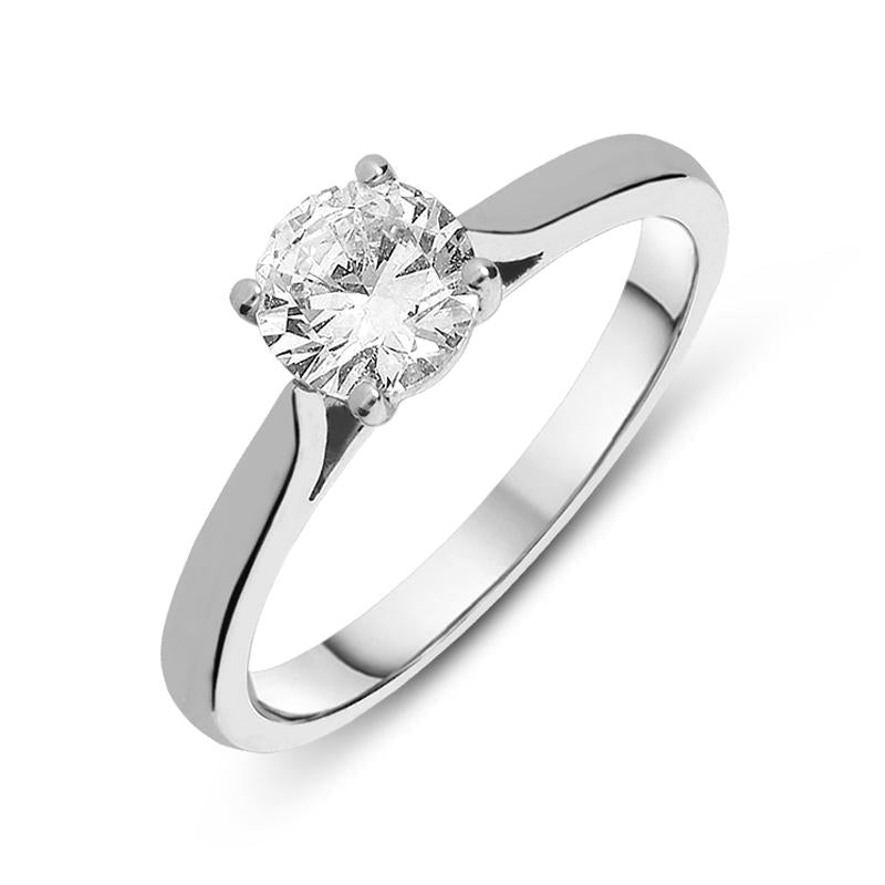 Platinum 1.01ct Diamond Round Brilliant Cut Solitaire Ring