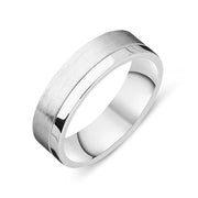 Platinum 6mm Brushed Wedding Ring, FJT-052.
