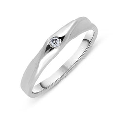 Platinum Diamond Brilliant Cut Twisted Wedding Ring