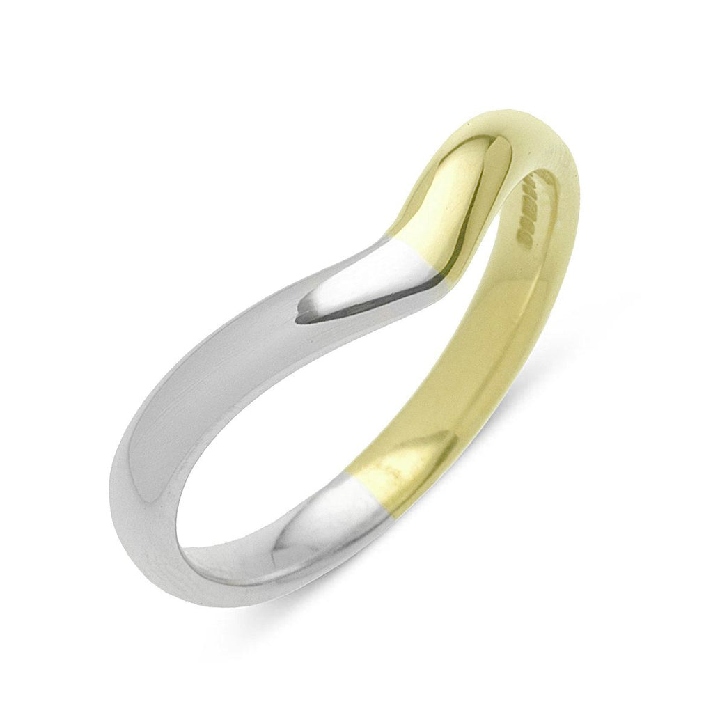 Platinum and 18ct Yellow Gold Two-Tone Wedding Ring