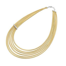 Ponte Vecchio Nobile 18ct Yellow Gold 0.44ct Diamond Multi-Strand Necklace, CG1186BRY.