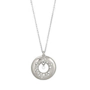 Ponte Vecchio Vega 18ct White Gold 0.18ct Diamond Circle Necklace, CP1121BRW.
