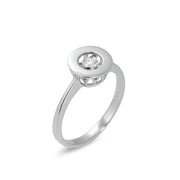Ponte Vecchio Vega 18ct White Gold Diamond Open Circle Ring, CA629BRW.