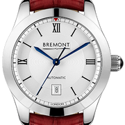 Bremont Watch Solo 32 LC White Ladies SOLO-32-LC/WH/R Dark Red Alligator
