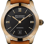 Bremont Watch Solo 32 LC Rose Gold Ladies SOLO-32-LC/RG-BK/R Tan Leather