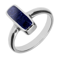 Sterling Silver Sodalite Dinky Oblong Ring