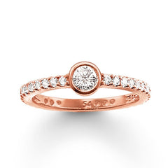 Thomas Sabo Glam And Soul Rose Gold White Zirconia Eternity Ring D