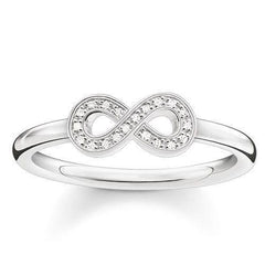 Thomas Sabo Glam And Soul Sterling Silver White Zirconia Infinity Ring