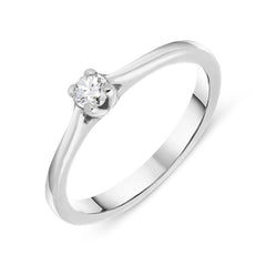 18ct White Gold 0.15ct Diamond Solitaire Ring
