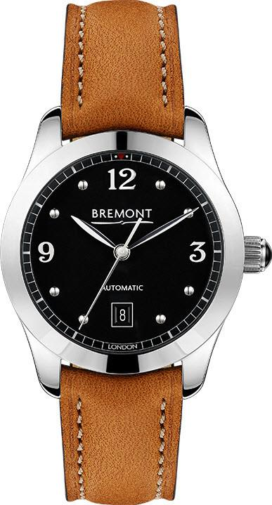 Bremont Watch Solo 32 AJ Black Ladies SOLO-32-AJ/BK/R Tan Leather